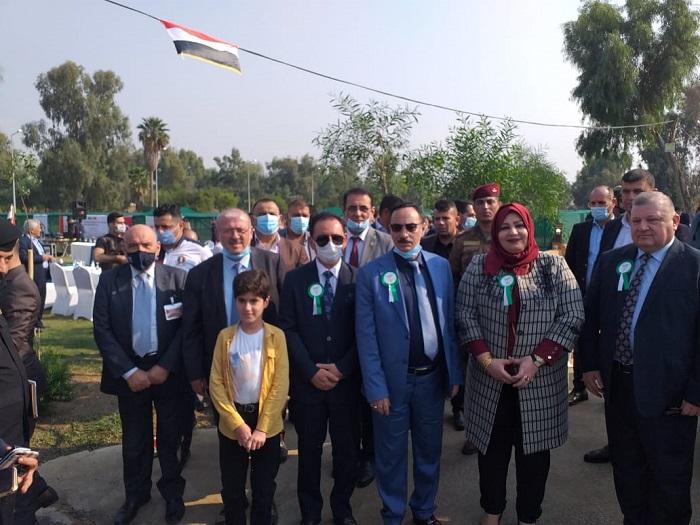 حضور احتفالية اقامتها بلدية الموصل لغرس 250 الف شجرة في مدينة الموصل